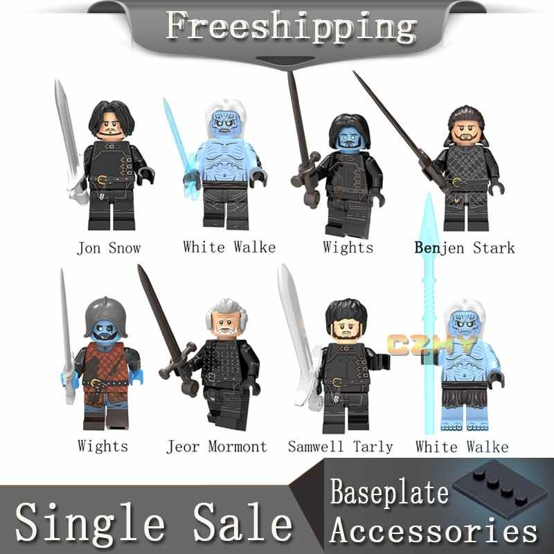 Figuras de Game of Thrones Jon Snow White Walke Wights Benjen Stark KT1024 Samwell Tarly blocos de Gelo e Fogo