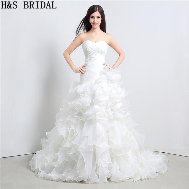ee819434358 Sweetheart princess wedding dresses Organza vintage wedding dress vestidos  de novia Layered Wedding Gown