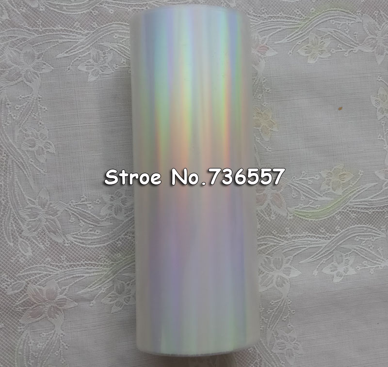 Holographic Foil Plain Transparent Foil Y05 Hot Stamping On Paper Or Plastic 16cm X 120m