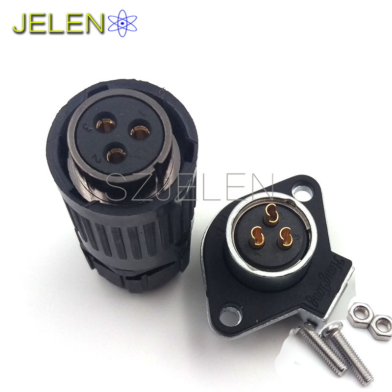 HE20, 3 pin Waterproof and dustproof connectors, (plug)Male and (socket)female connectors, LED power cable wire connector jelen hp20 series 7 pin industrial connectors plug socket aviation connector power charger male and female connectors 7 pin