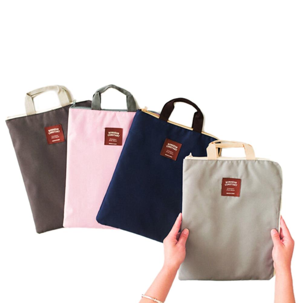 Bag Briefcases File-Folder-Bag Document-Organizer Canvas New A4 4-Colors 1PCS Archivador