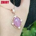 Настоящее Стерлингового Серебра 925 Ожерелье Природный Камень Халцедон Женщины Ювелирные Изделия Большой Камень