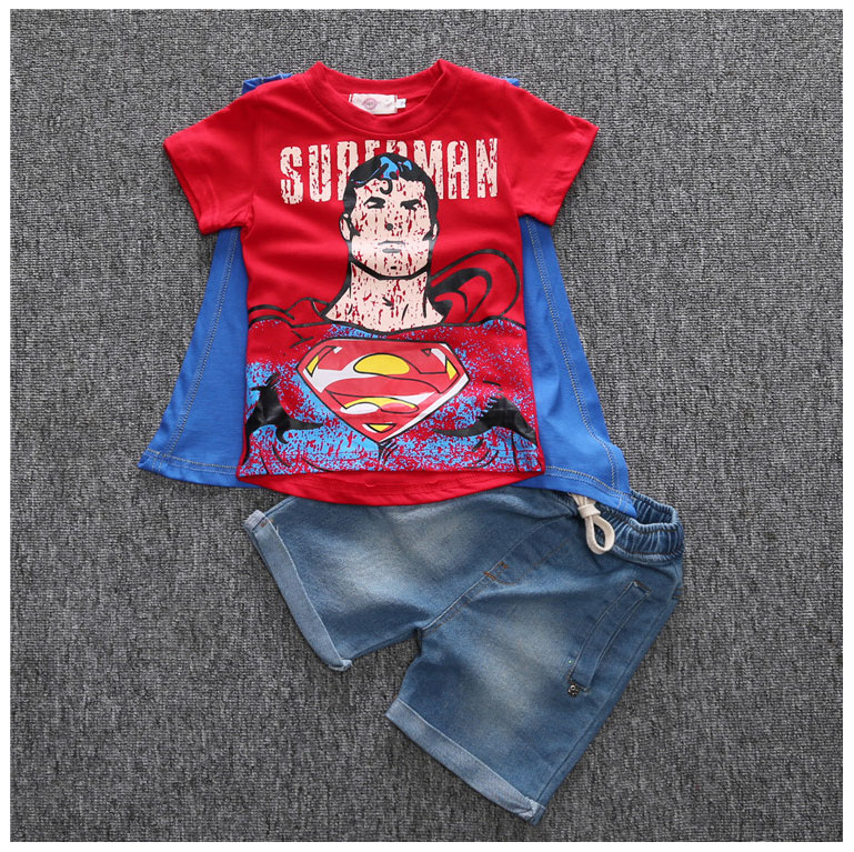 Summer-Brand-Clothes-For-Boys-Batman-Superman-Shirt-And-Short-Jeans-Toddler-Boy-Shorts-Sets-Streetwear-Kids-Outfits-Boys-Suits-2