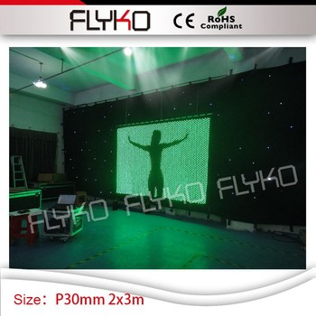 Auf Förderung! P3cm Disco Club Beleuchtung Vision Display Led-bildschirm 2x3 Mt Führte Video Vorhang Auf Verkauf