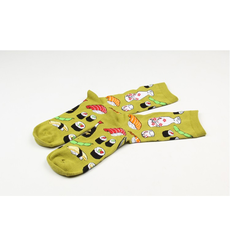 Foot 22-27cm Socks Food Delicious Omelette Fruit Sushi Sake Doughnut Lollipop Salmon Avocado Apples Cupcake Lolly Bacon Toast Hi 24