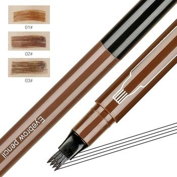 SUAKE Micro blading brwi Pen wodoodporne widełki tatuaż na brwi ołówek profesjonalne grzywny szkic cieczy brwi Eye Brow TSLM1