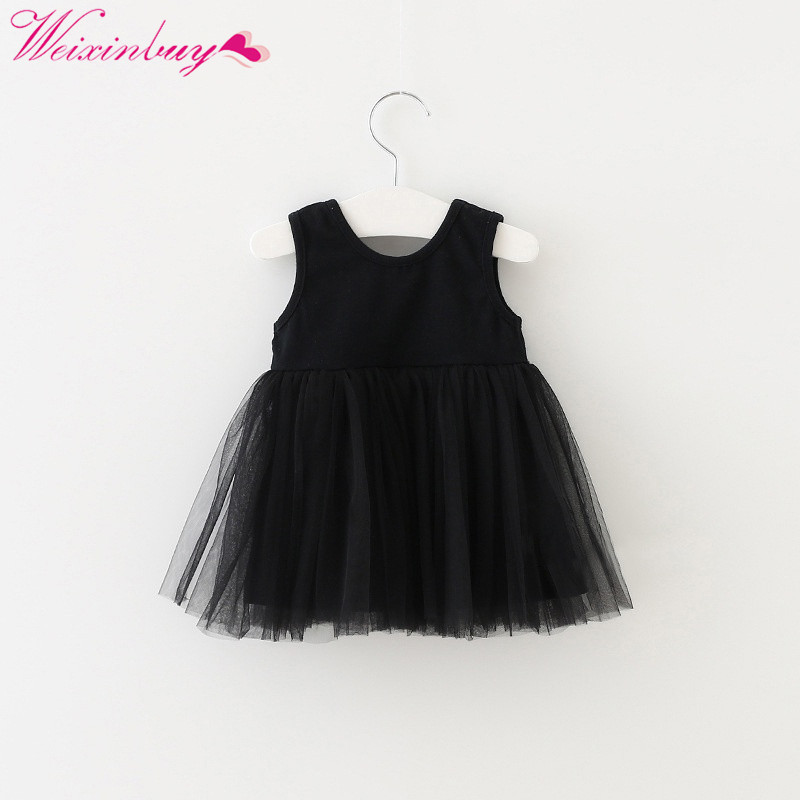 2018 Baby Girl Summer Dresses Infant Dress Born Baby Girls Clothes Casual Cotton Babys Clothing Kids Birthday Dress 0-4 Year New