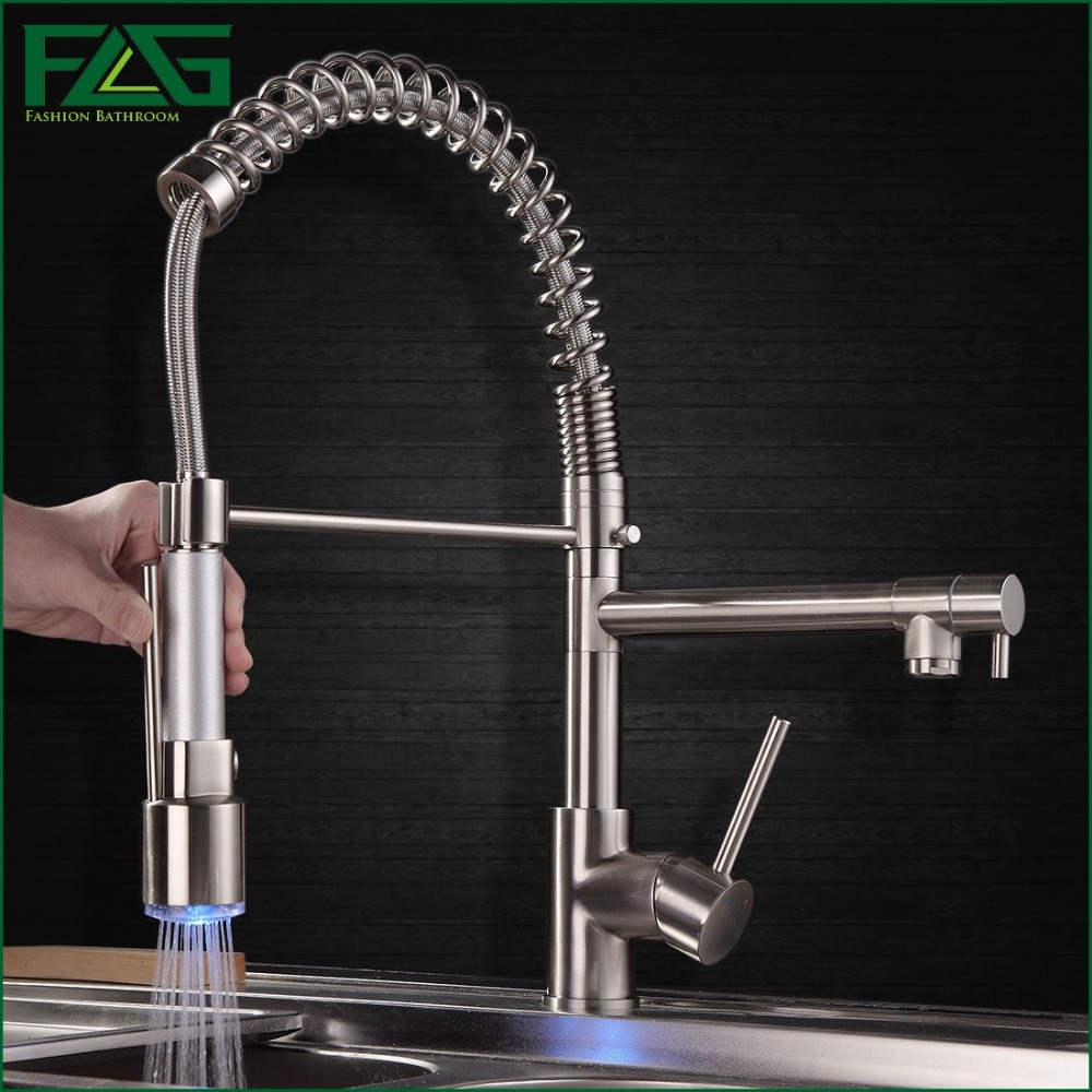Polished Nickel Kitchen Faucet Popular Brushed Kitchen Tap Buy Cheap Brushed Kitchen Tap Lots