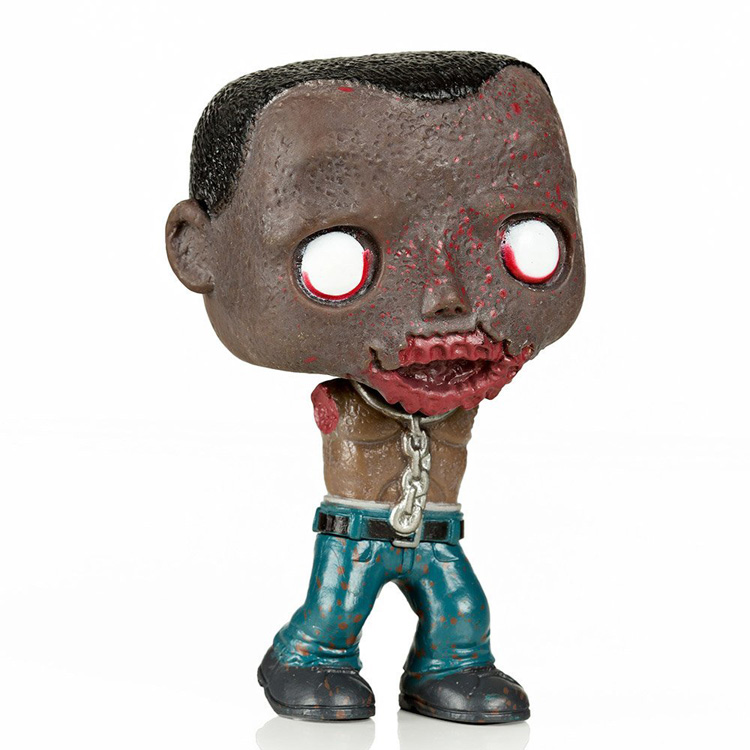 Imperfect Funko POP Second-hand TV Series The Walking Dead Michonne Pet Walker 2 Zombie Figure Decorative Model Toy Cheap No box imperfect funko pop second hand horror movies evil dead 2 ash with saw vinyl action figure collectible model toy cheap no box