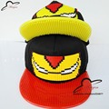 Fashion Cartoon Mosaics DIY Brick Building toy blocks Iron Man Baseball Cap Flat-brimmed Hat Hip-hop Hat wholesale