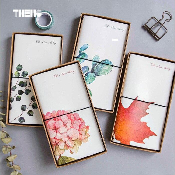 4 styly japonský kreativní květina Maple Leaf DIY Notebook kůže - Bloky a záznamní knihy - Fotografie 4