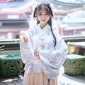 Традиционный hanfu один ярус пипа женский рубашка юбка маленький груша цветок печати осенью и зимой Guang Dong Кантонском вышивка