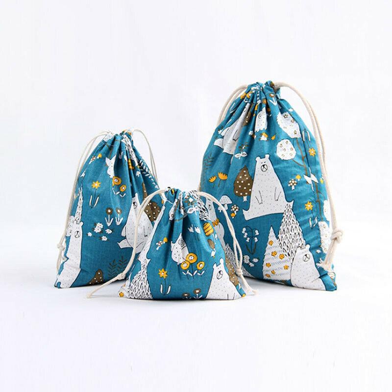 Fashion Cartoon Portable Printing Drawstring Women Backpacks Beam Port Shopping Storage Bag Travel Bags
