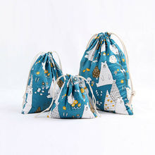 Fashion Cartoon Portable Printing Drawstring Women Backpacks Beam Port Shopping Storage Bag Travel Bags