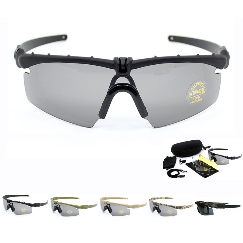 5 Colors Military Sunglasses Men Army Tactical Glasses Shooting Airsoft Eyewear Outdoor Sport UV Protection For Hiking