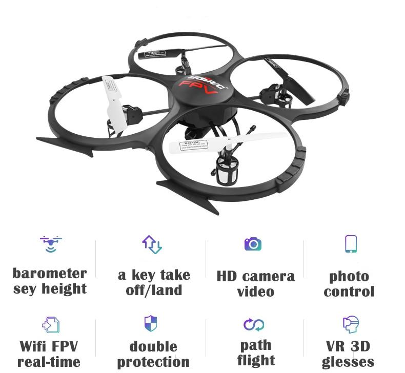 U819A dron Helicoptero de Controle Remoto Rc Drone U818A Quadcopter 6-Axis Gyro Wifi FPV HD Camera rc drone u818a updated version dron jjrc u819a remote control helicopter quadcopter 6 axis gyro wifi fpv hd camera vs x400 x5sw
