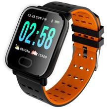 BINSSAW reloj inteligente A6 PK Q8 V6 S9, reloj inteligente con monitor, seguidor Fitness del ritmo cardíaco y la presión sanguínea, resistente al agua para Android IOS