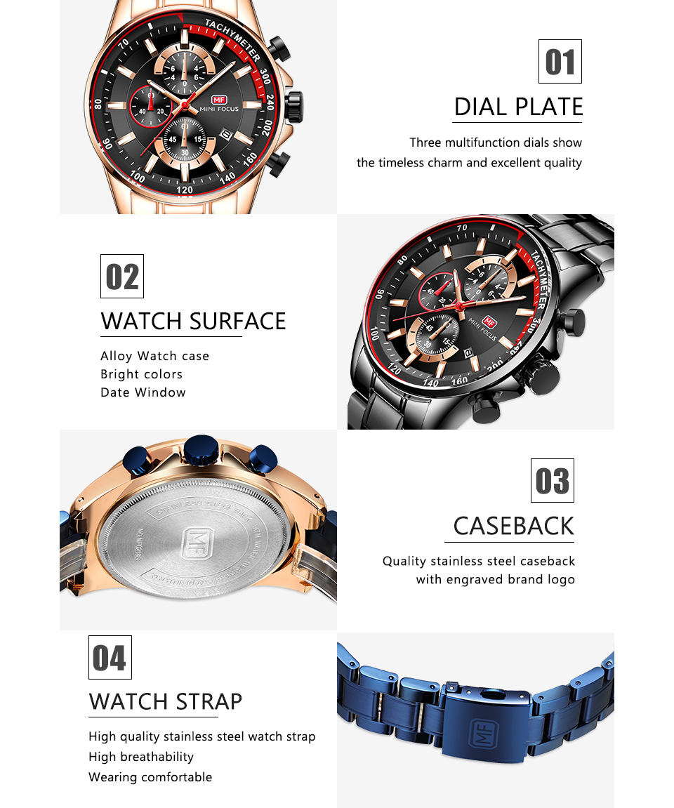 Image 4 - Топ бренд Роскошные Синие кварцевые часы для мужчин Мини фокус многофункциональный хронограф спортивные модные наручные часы водонепроницаемые часы 2019Кварцевые часы   -