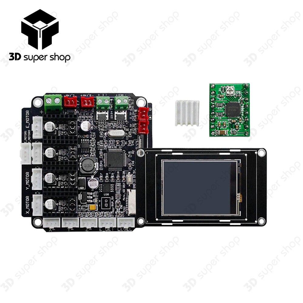 купить Mini MotherBoard STM32F103 Upgrade Control Board for 3D Printer Triple Extruder по цене 2515.23 рублей
