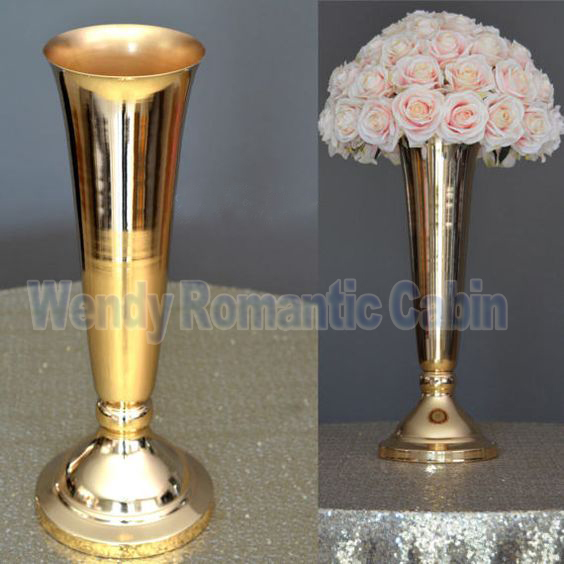 Cm tall gold wedding flower vase stand table