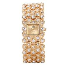 G&D Luxury Brand Gold Women's Watches Bracelet Watches Ladies Quartz Wristwatch Crystal Band relogio feminino Rectangel relojes