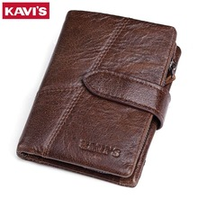 КАВИС бренд пояса из натуральной кожи для мужчин женские кошельки Роскошные кредитные карты портмоне мужской Малый Walet Portomonee Rfid мини