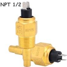 VDO 1/2 NPT 21 мм резьбовой датчик температуры дизельного двигателя и масла Датчик температуры воды для генераторной установки+-12006025