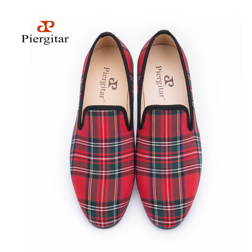 3bda8cbbdd34 Scotch plaids Fabric Men shoes Men Red and Blue Casual loafers Men Flats  Size US 6 14 Free shipping-in Men s Casual Shoes from Shoes on  Aliexpress.com ...