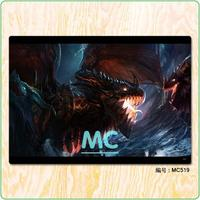 WOW Deathwing 3D HD Game Fabric Painting Core Scrolls Poster Home Decor Banners Hanging Art