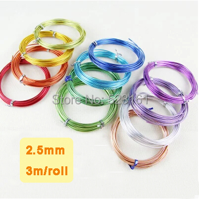 New anodized aluminum wire craft 25mm thickness 10 gauge colored new anodized aluminum wire craft 25mm thickness 10 gauge colored aluminium wire 3 meters supplies greentooth Image collections