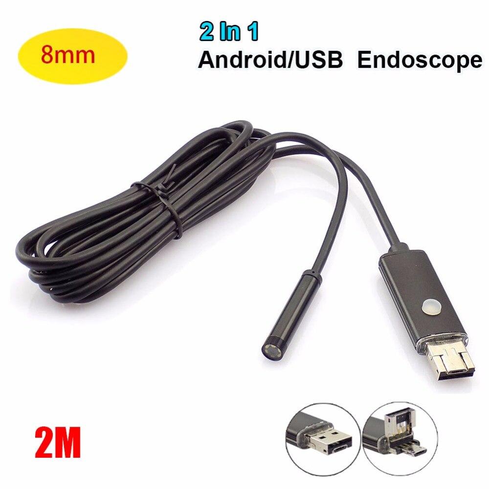 15 Off Gakaki 8mm Lens 2in1 Android Usb Endoscope Camera Otg Mini Waterproof Inspection Car Detection Snake Tube