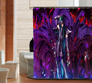 Image 4 - 人格聖闘士星矢カスタムシャワーカーテンバスルーム装飾防水さまざまなサイズ送料無料よりサイズSQ0506 ZHH