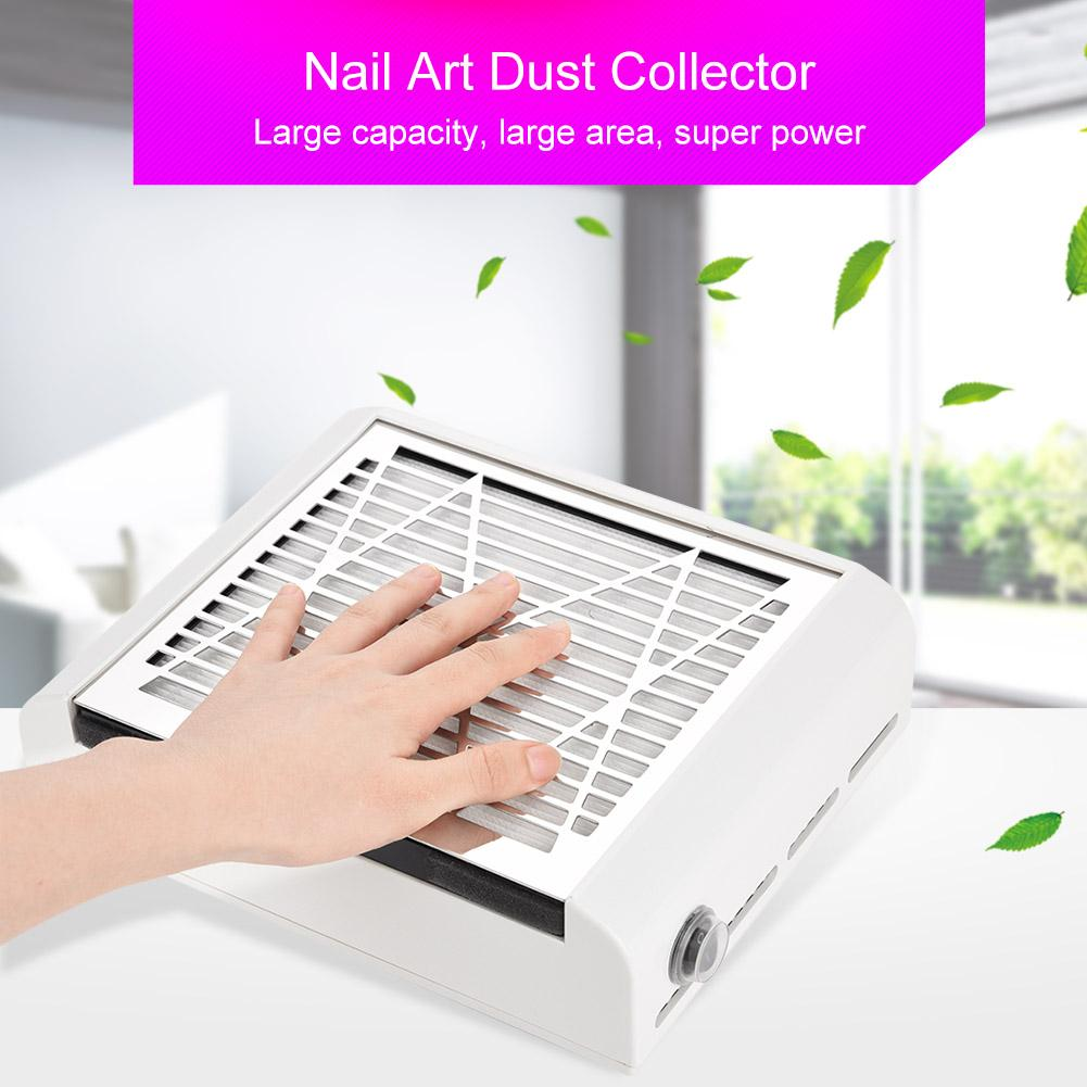 40W Nail Art Dust Suction Collector Acrylic UV Gel Dryer Machine Vacuum Cleaner Nail Manicure Dust Collectors Tool With US Plug drill buddy cordless dust collector with laser level and bubble vial diy tool new