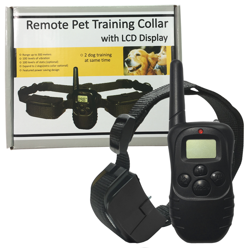 100LV Level 300meter Electronic Shock Vibra LCD Display Remote Control Pet Dog Training Collar 998D For 1 Dog image