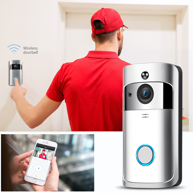 FREDI Wireless WiFi Video Doorbell Camera IP 720P Ring Door