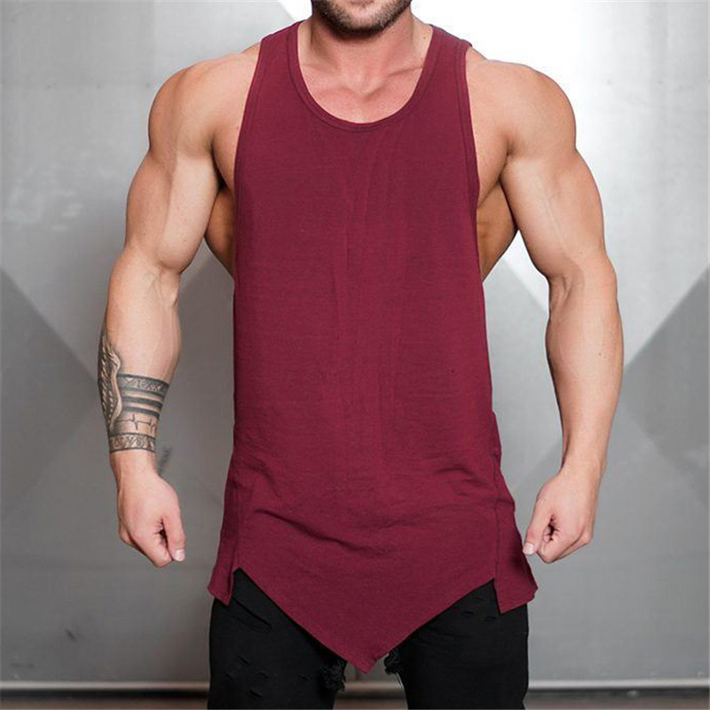 Brand bodybuilding stringer   tank     top   men musculation vest gyms clothing fitness men undershirt solid tanktop blank muscle shirt