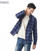 2017 New Arrival Brand Clothing Spring Plaid Men Shirt Fashion Slim Fit Long Sleeve Shirt Men
