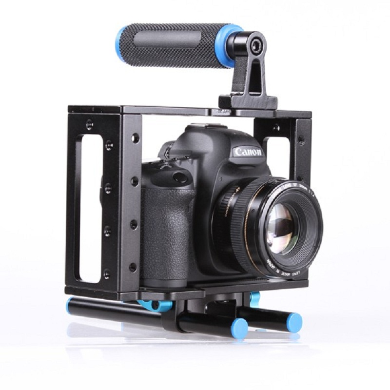 Lightdow DSLR Camera Cage Support Stabilizer Rig for Canon 5D Mark II for Nikon D7000 D800