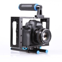 DSLR Camera Cage Kit For Canon 5D Mark II 7D 60D With 15mm Rod Rig