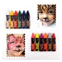 6/12 Colors Face Painting Pencils Splicing Structure Face Paint Crayon Christmas Body Painting Pen Stick Children Party Makeup Skin Care