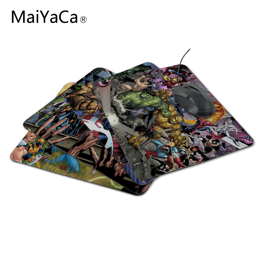 MaiYaCa New Arrival Hot Sale Marvel Comics Fans Game Design Gaming PC Anti-slip Mouse Mat for Optical/Trackball Mouse
