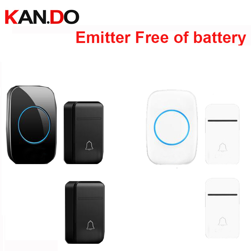 1RX 2TX Wireless Door Bell Set Emitter Free Of Battery Waterproof Wireless Doorbell 200m Door Chime Door Ring RX By 110-240V