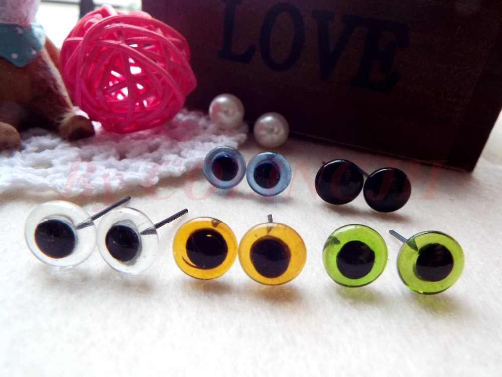 Hot Sale! 100 pcs/lot Campuran Warna Kaca Mata 2mm-12mm 5 warna