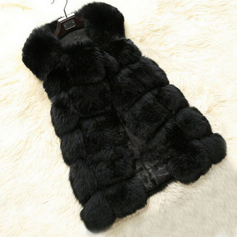 MCCKLE Fur Vest Sleeveless Coat Luxury Faux Fox Winter Warm Women - ქალის ტანსაცმელი - ფოტო 5