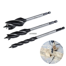 2017  Spiral HSS Drills for Wood 10/16/25mm Hex Power Tools Chuck Bits 3Pcs/SET MAR6_30