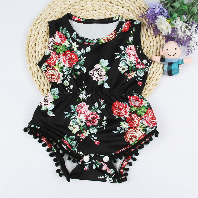 534c1a099d63 baby rompers summer Infant Toddler Baby Floral Romper+Headwear Outfits Set Clothes  spring rompers baby girl summer clothes