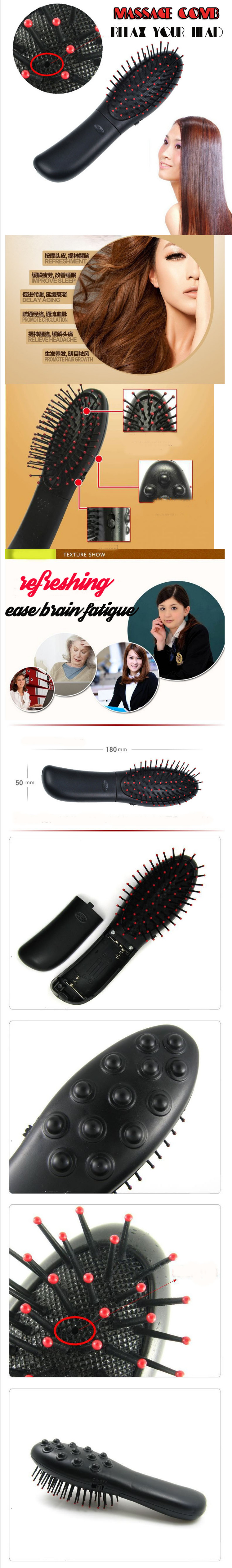 Vibrating Hair Brush Electric Scalp Massage