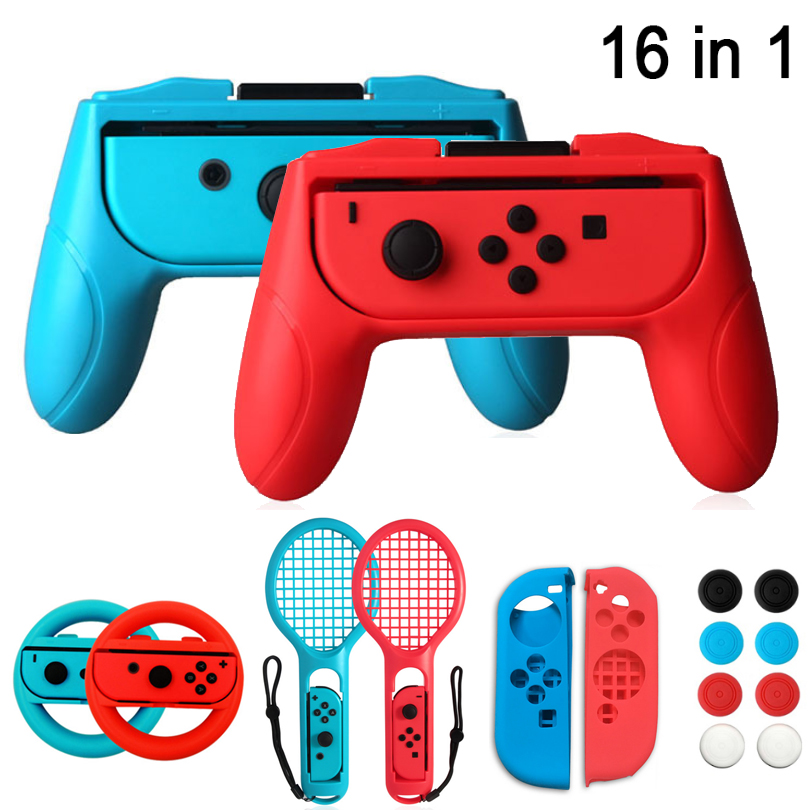 Game Accessories Joy-Con Case JoyCons Handle Grip Silicon Gel Protector Controller Grips 16 In 1 Set For Nintend Switch NX NS