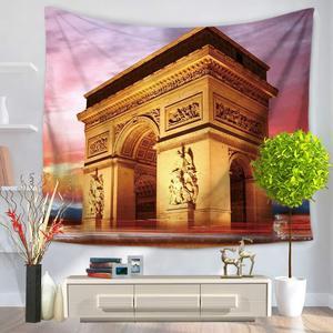 Image 3 - CAMMITEVER Taj Mahal Polyester Tarihi Doğal ABD özgürlük heykeli Asılı Goblen 150X130 cm Battaniye Yurt Yoga Mat Ev Dekor