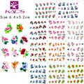 2016 New BJC177-187 11 sheet/SET Tip Nail Art Glitter Flower Nail stickers for nails Nail Decal Manicure Flower for Women
